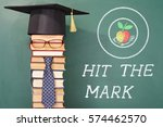 hit the mark  funny education... | Shutterstock . vector #574462570