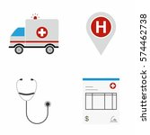 medical   health care icons set ... | Shutterstock .eps vector #574462738