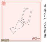 vector icon smartphone... | Shutterstock .eps vector #574463356