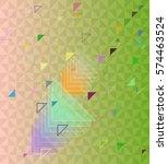 triangles design icon | Shutterstock .eps vector #574463524