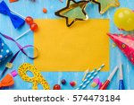 yellow space in the middle to... | Shutterstock . vector #574473184