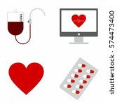 medical   health care icons set ... | Shutterstock .eps vector #574473400