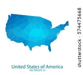 united states of america map  ... | Shutterstock .eps vector #574475668