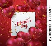 happy mothers day. vector... | Shutterstock .eps vector #574483549