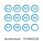 set  collection  group of blue... | Shutterstock .eps vector #574485220