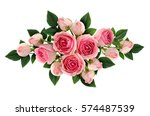 pink rose flowers and buds... | Shutterstock . vector #574487539