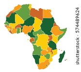 africa map vector | Shutterstock .eps vector #574489624