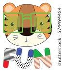 cute tiger | Shutterstock .eps vector #574494424