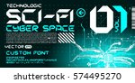 hi tech techno font future... | Shutterstock .eps vector #574495270