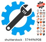 service tools icon with bonus... | Shutterstock .eps vector #574496908