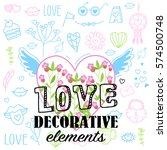 decorative elements is love ... | Shutterstock .eps vector #574500748