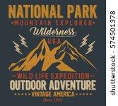 mountain explorer  national... | Shutterstock .eps vector #574501378