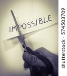 the impossible 'possible... | Shutterstock . vector #574503709