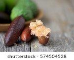 fresh mixed limes  kaffir lime... | Shutterstock . vector #574504528
