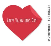happy valentines day label with ... | Shutterstock .eps vector #574506184