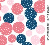 seamless dots pattern. vector... | Shutterstock .eps vector #574510384