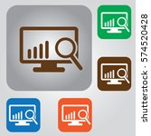 search on computer vector icon. ... | Shutterstock .eps vector #574520428