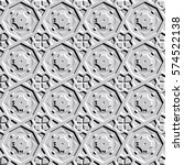 bas relief optical illusion.... | Shutterstock .eps vector #574522138