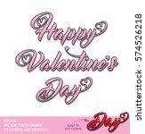 happy valentine day pink...   Shutterstock .eps vector #574526218