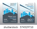 blue color scheme with city... | Shutterstock .eps vector #574529710