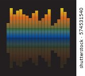vector music equalizer. vector...   Shutterstock .eps vector #574531540
