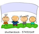 vector happy kids. | Shutterstock .eps vector #57453169