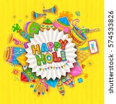 illustration of colorful happy... | Shutterstock .eps vector #574533826