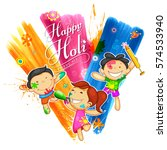 illustration of colorful happy