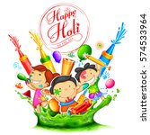 illustration of colorful happy... | Shutterstock .eps vector #574533964