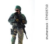 man military outfit a soldier... | Shutterstock . vector #574535710