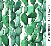 watercolor cactus tropical...   Shutterstock . vector #574541044