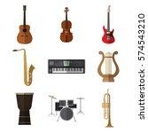 set of simple musical... | Shutterstock .eps vector #574543210