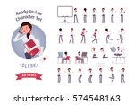 ready to use character set.... | Shutterstock .eps vector #574548163