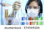 scientist works in modern... | Shutterstock . vector #574549204