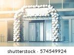 new business centre opening... | Shutterstock . vector #574549924