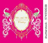 vintage invitation and wedding... | Shutterstock .eps vector #574550038