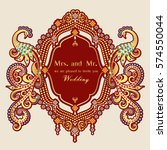 vintage invitation and wedding... | Shutterstock .eps vector #574550044