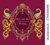 vintage invitation and wedding... | Shutterstock .eps vector #574550098