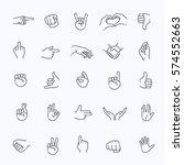 hand gestures. flat style... | Shutterstock .eps vector #574552663