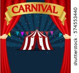 carnival and circus tent poster  | Shutterstock .eps vector #574553440