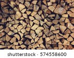 Ends Of Logs Wooden Background...