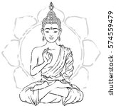 card with buddha | Shutterstock .eps vector #574559479