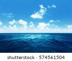 perfect sky and tropical ocean | Shutterstock . vector #574561504