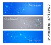 vector background of glowing... | Shutterstock .eps vector #574565410