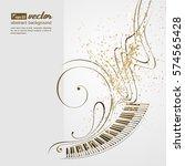 simplified vector illustration  ... | Shutterstock .eps vector #574565428
