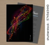 abstract musical background  ... | Shutterstock .eps vector #574565440