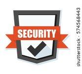 security shield illustration | Shutterstock .eps vector #574568443