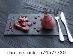 creative french cuisine.... | Shutterstock . vector #574572730