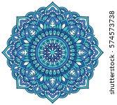 oriental mandala. vector...   Shutterstock .eps vector #574573738