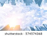 blue sky with cloud in sunset... | Shutterstock . vector #574574368